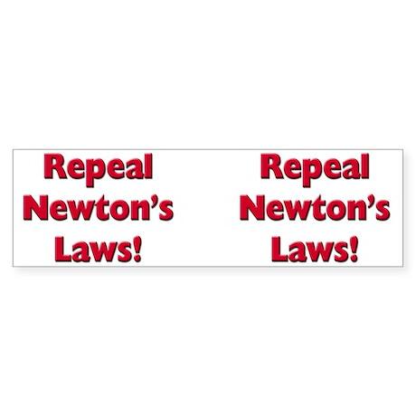 Repeal Newton's Laws Sticker (Bumper 10 pk)