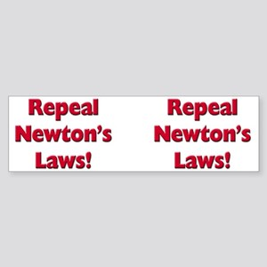 Repeal Newton's Laws Sticker (Bumper)