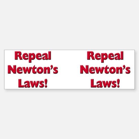 Repeal Newton's Laws Sticker (Bumper)
