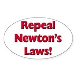 Repeal Newton's Laws Sticker (Oval)