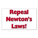 Repeal Newton's Laws Sticker (Rectangle)