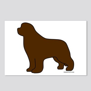Brown Newfoundland Silhouette Postcards (Package o