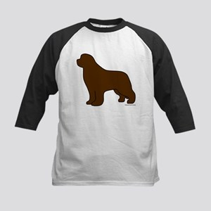 Brown Newfoundland Silhouette Kids Baseball Jersey