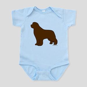Brown Newfoundland Silhouette Infant Bodysuit