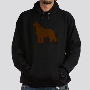 Brown Newfoundland Silhouette Hoodie (dark)