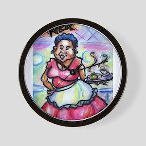 Waitress, Bright, Diner, Wall Clock
