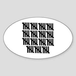 75th birthday Sticker (Oval)