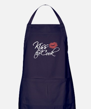 Cute Kiss the chef Apron (dark)