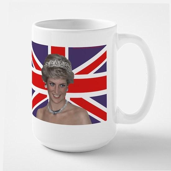 Princess Diana flying the Flag Mugs