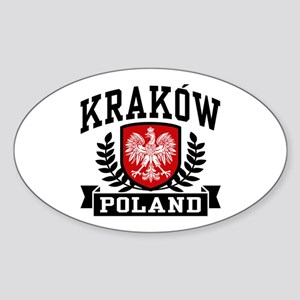 Krakow Poland Sticker (Oval)