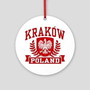 Krakow Poland Ornament (Round)