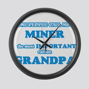 Some call me a Miner, the most im Large Wall Clock