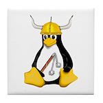 Tux the Viking Penguin Tile Coaster