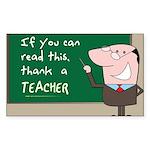 Thank a Teacher Sticker (Rectangle 10 pk)