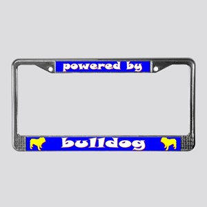 Powered by Bulldog License Plate Frame