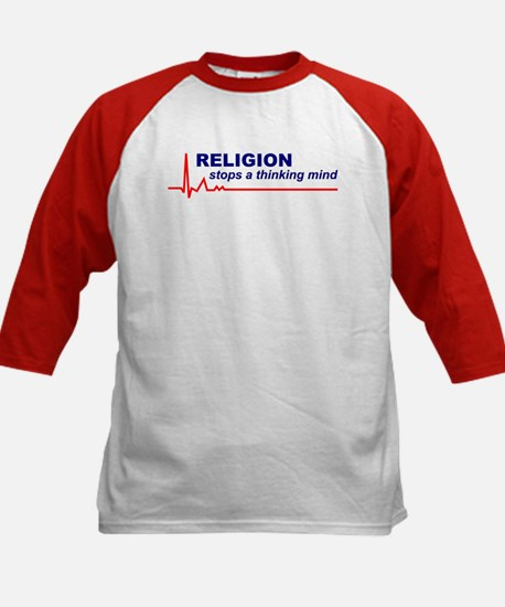 Religion Stops.. Kids Baseball Jersey (Front Only)