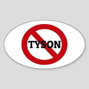 Anti-Tyson Oval Sticker
