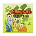 Garfield & Cie Logo Tile Coaster