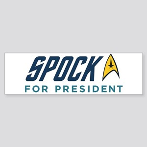 Spock for President Sticker (Bumper)