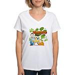 Garfield & Cie Logo Women's V-Neck T-Shirt