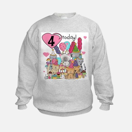 Kittens 4th Birthday Sweatshirt