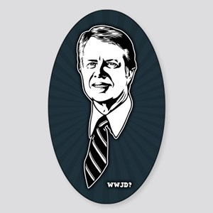 What Would Jimmy Do? Sticker (Oval)