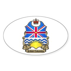 B.C. Shield Oval Decal