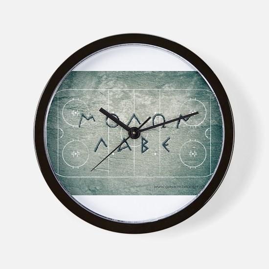 Molon Labe Hockey Wall Clock