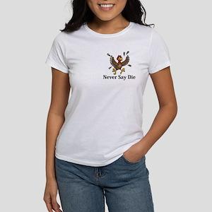 Never Say Die Logo 14 Women's T-Shirt Design Front