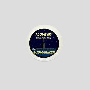 I love My Submariner Mini Button
