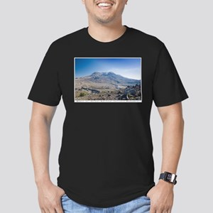 Mount St. Helens Men's Fitted T-Shirt (dark)