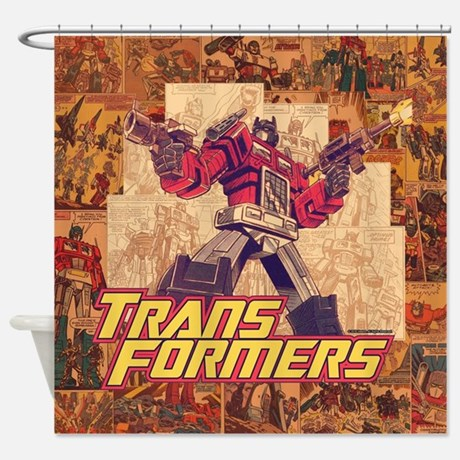 Transformers Comic Shower Curtain