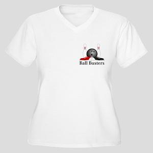 Ball Busters Logo 15 Women's Plus Size V-Neck T-Sh