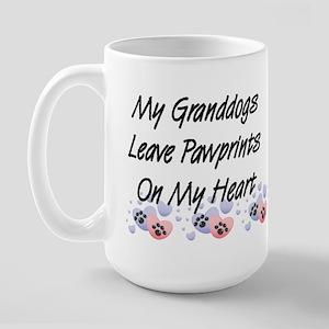 Granddogs Pawprints Large Coffee Mug