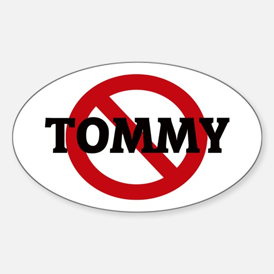 Anti-Tommy Oval Decal