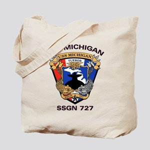 USS Michigan SSGN 727 Tote Bag