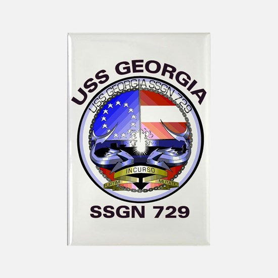 USS Georgia SSGN 729 Rectangle Magnet