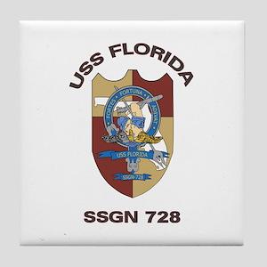 USS Florida SSGN 728 Tile Coaster
