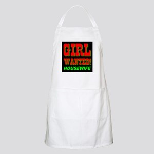 Girl Wanted! Housewife BBQ Apron