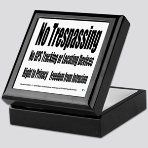No Trespassing Keepsake Box