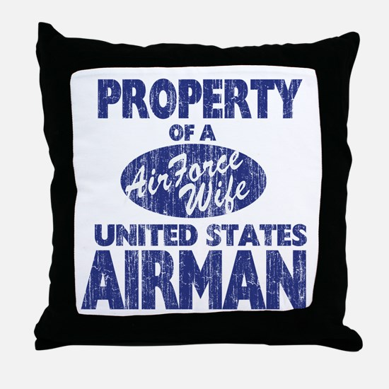 U.S. Airforce Wife Throw Pillow
