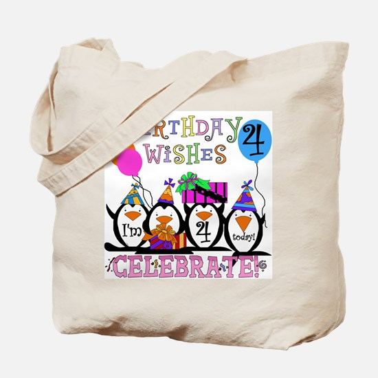 Silly Penguins 4th Tote Bag