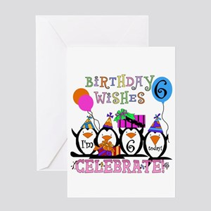 Silly Penguins 6th Greeting Card