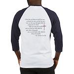 (BACK) St. Teresa of Avila Quote Baseball Jersey