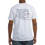 (BACK) St. Teresa of Avila Quote Fitted T-Shirt
