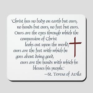 St. Teresa of Avila Quote Mousepad
