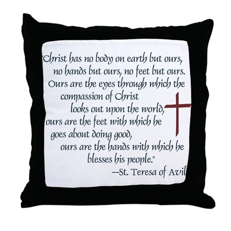 St. Teresa of Avila Quote Throw Pillow