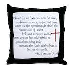St. Teresa of Avila Quote Throw Pillow