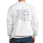 (BACK) St. Teresa of Avila Quote Sweatshirt