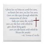 St. Teresa of Avila Quote Tile Coaster